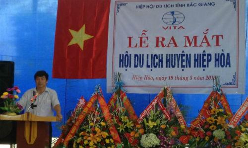 Hiệp hội Du lịch Bắc Giang ra mắt Chi Hội Du lịch huyện Hiệp Hòa