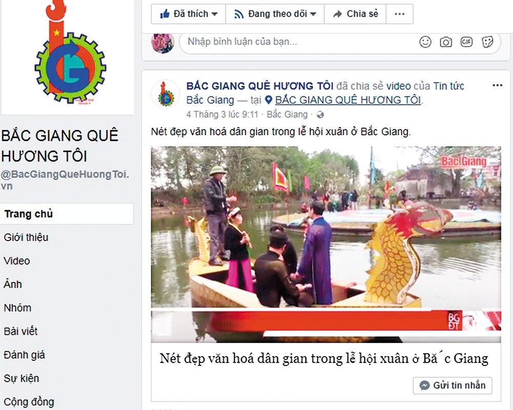Nhóm \u201cBắc Giang quê hương tôi\u201d thường xuyên đăng tải hình ảnh đẹp về vùng đất, con người Bắc Giang trên facebook.